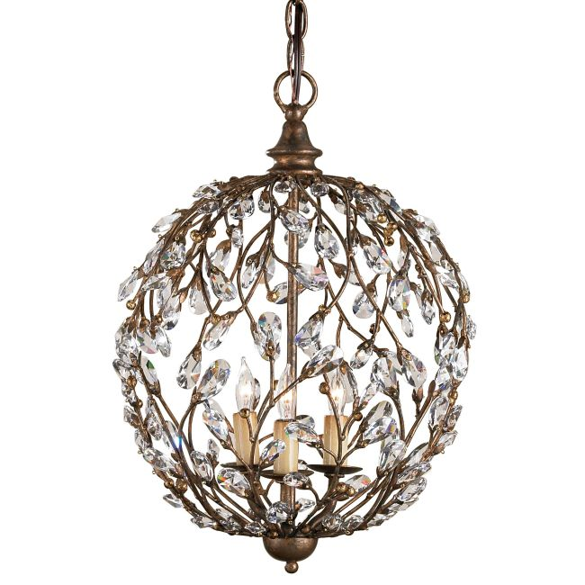 Crystal Bud Sphere Chandelier  by Currey and Company