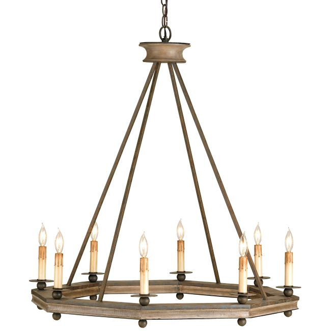 Bonfire Chandelier by Currey and Company   9799-CC