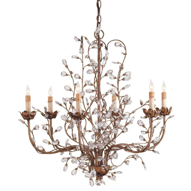 Crystal Bud Chandelier by Currey and Company | 9882-CC