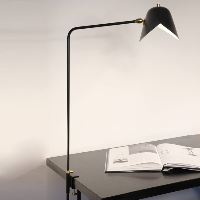 Agrafee Desk Lamp  by Serge Mouille