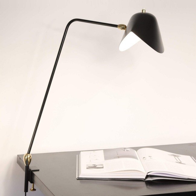 Agrafee Double Swivel Desk Lamp  by Serge Mouille