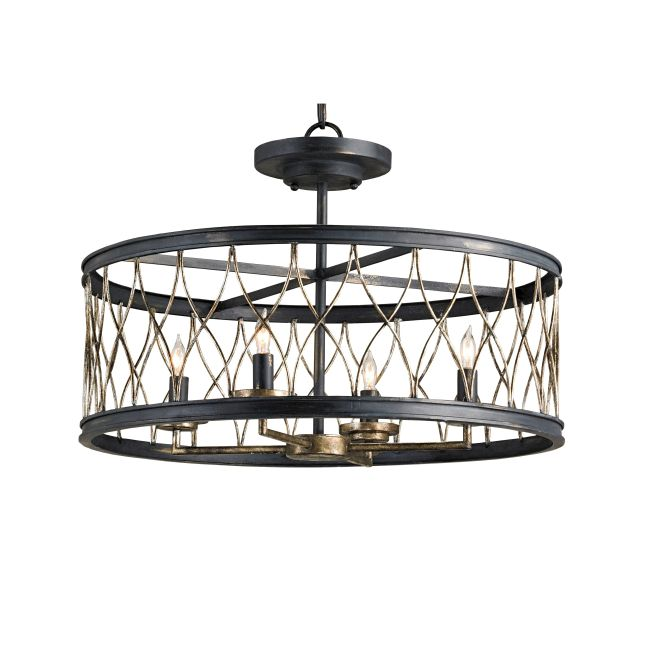 Crisscross Convertible Pendant  by Currey and Company