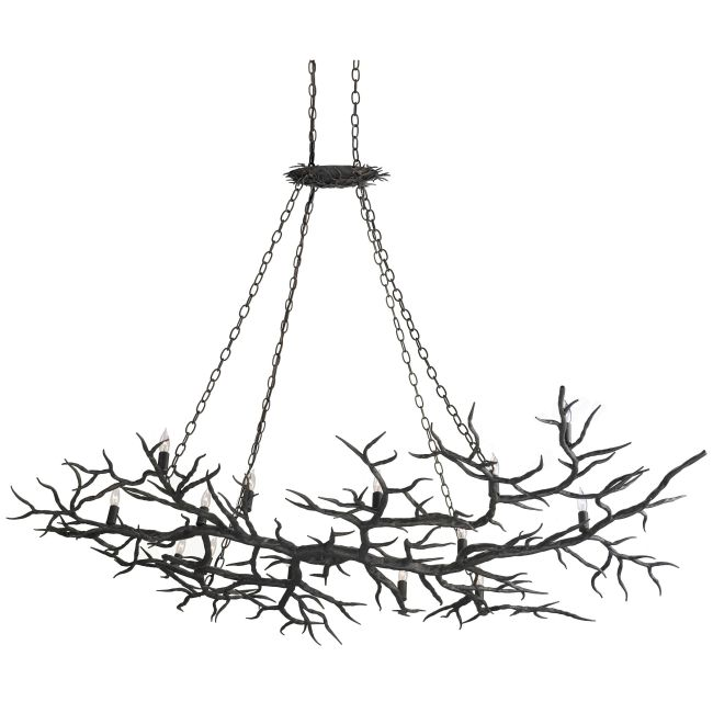 Rainforest Chandelier by Currey and Company   9007-CC