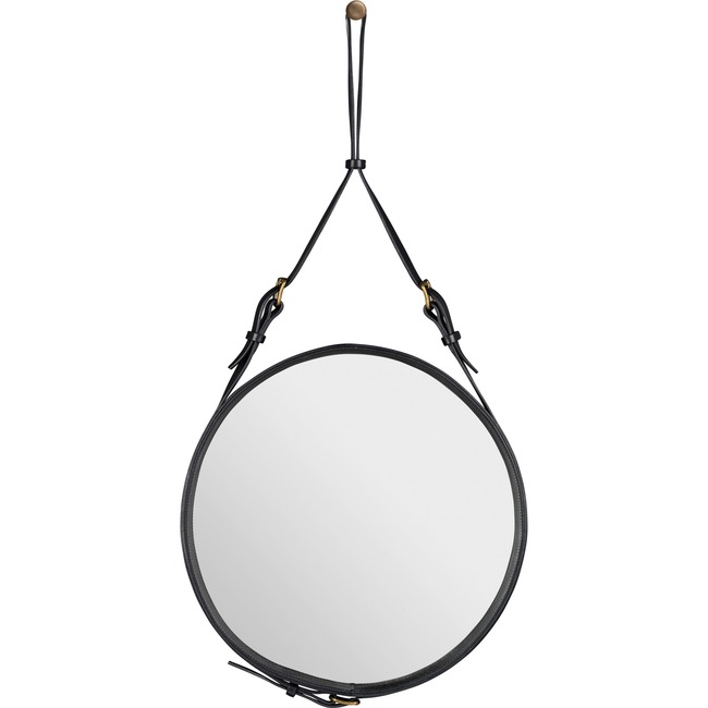Adnet Small Round Mirror  by Gubi