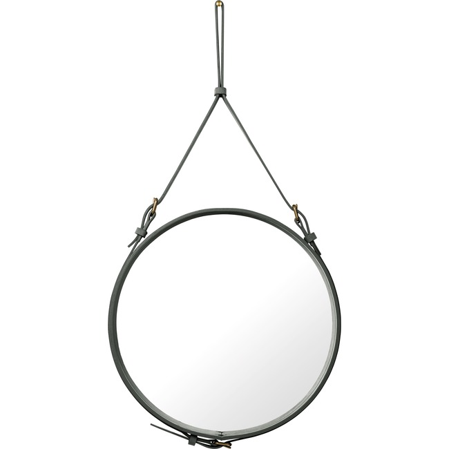 Adnet Medium Round Mirror  by Gubi