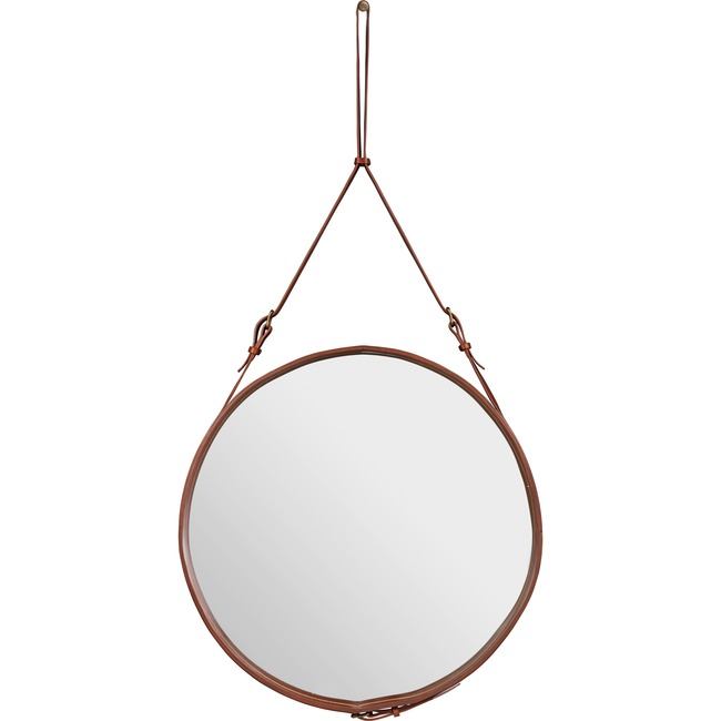 Adnet Large Round Mirror  by Gubi