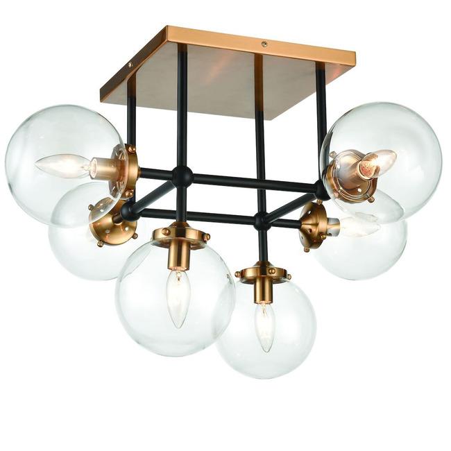 Boudreaux 6 Light Semi Flush Ceiling Light  by Elk Lighting