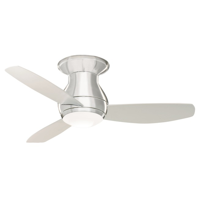 Curva Sky Flush Ceiling Fan with Light  by Emerson Ceiling Fans
