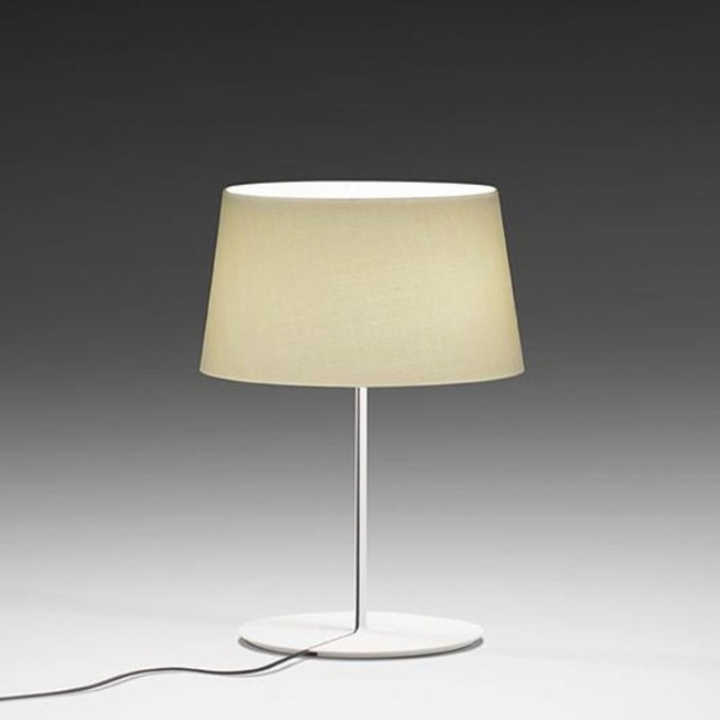 Warm Aluminum Shade Table Lamp  by Vibia
