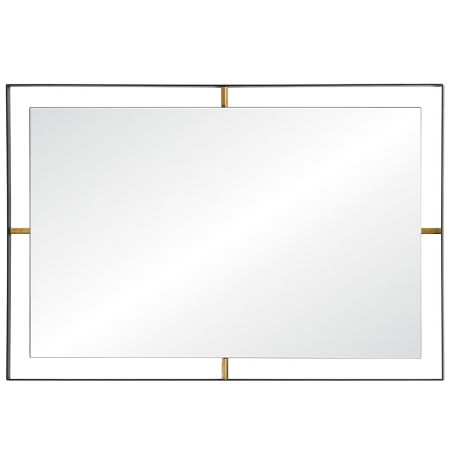 Framed Rectangle Wall Mirror  by Rogue Decor