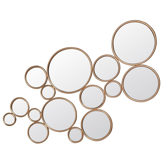 Framed Circles Mirror  by Rogue Decor