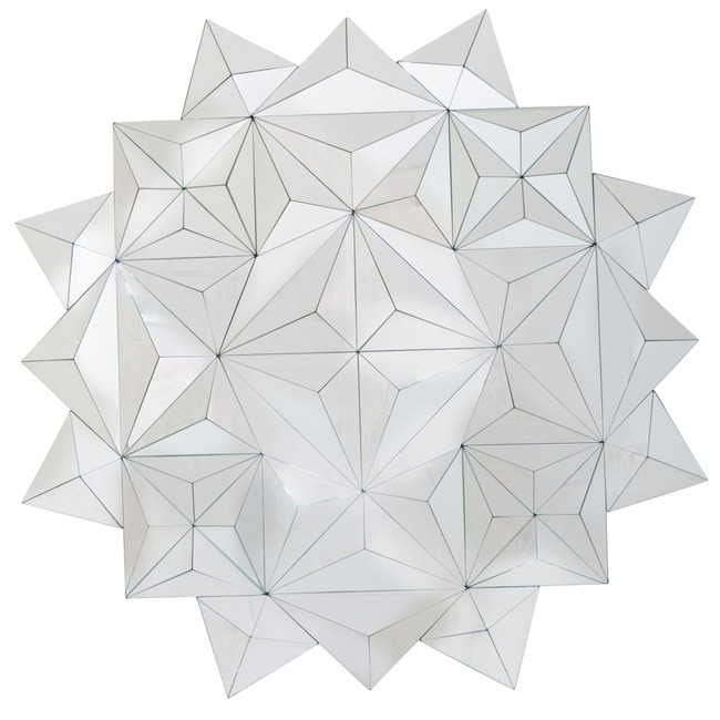 3D Facets Mirror  by Rogue Decor