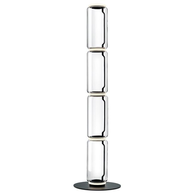 Noctambule High Cylinder Floor Lamp with Big Base  by Flos Lighting