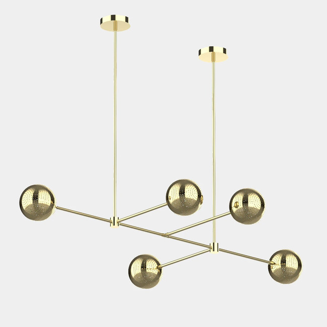 Amur Linear Chandelier  by Dounia Home