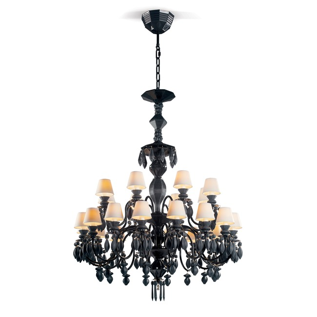 Belle De Nuit Tear Drop Chandelier  by Lladro