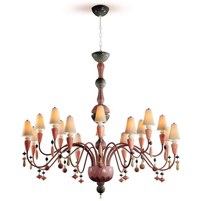 Ivy and Seed Flat Chandelier  by Lladro