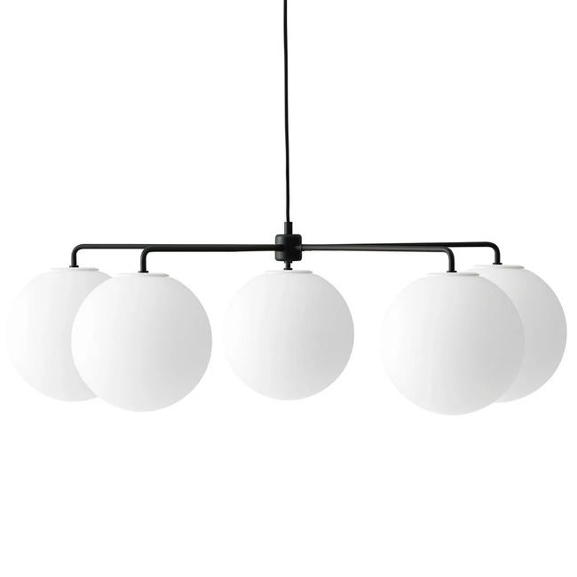 Chambers Chandelier with Decorative Shades  by Menu