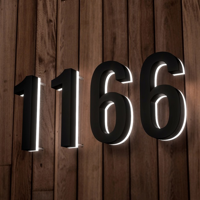 Luma Metal Illuminated Numbers / Letters  by Modern Lights