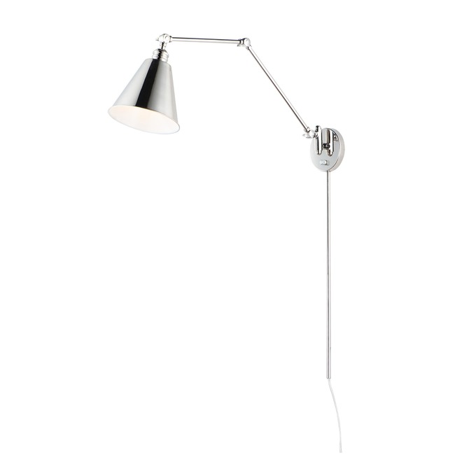 Library Swing Arm Wall Sconce w/ Cord and Plug  by Maxim Lighting