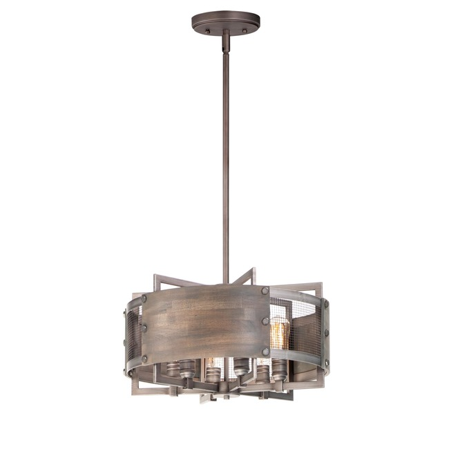 Outland Drum Pendant  by Maxim Lighting