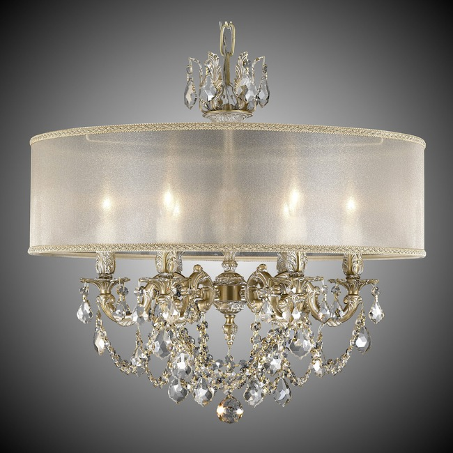 Llydia 6 Light Chandelier  by American Brass & Crystal