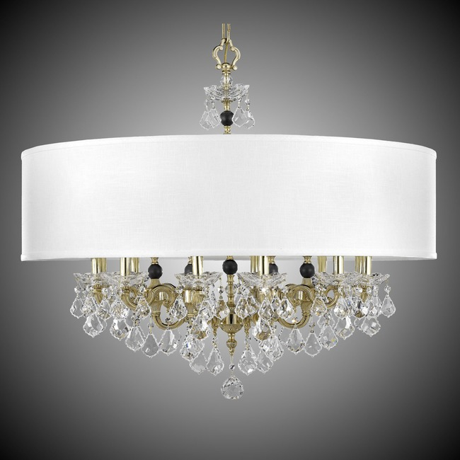Venetian Shaded Chandelier  by American Brass & Crystal