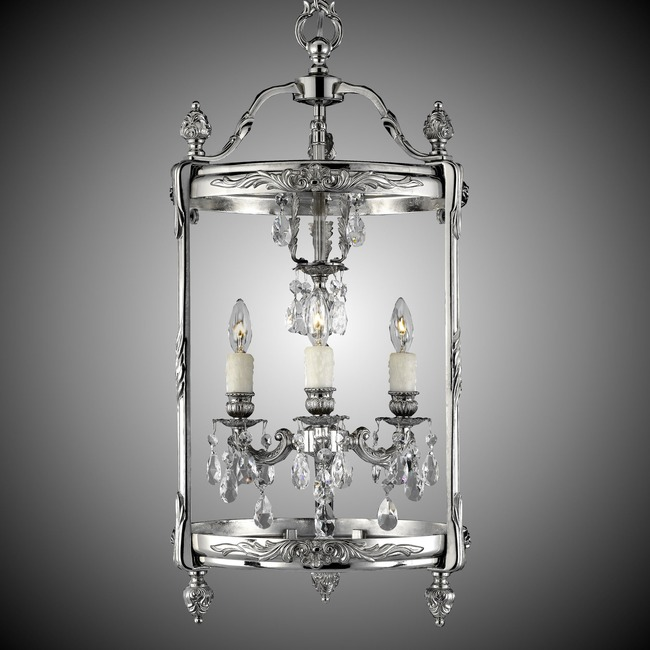Lantern Tall Round Pendant  by American Brass & Crystal