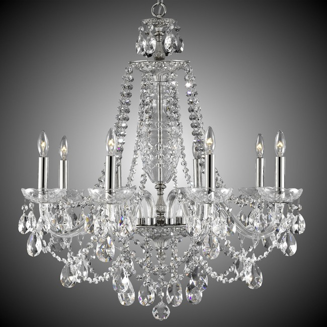 Lancaster Chandelier  by American Brass & Crystal