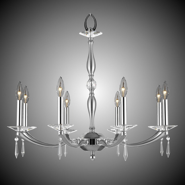 Kensington Chandelier  by American Brass & Crystal