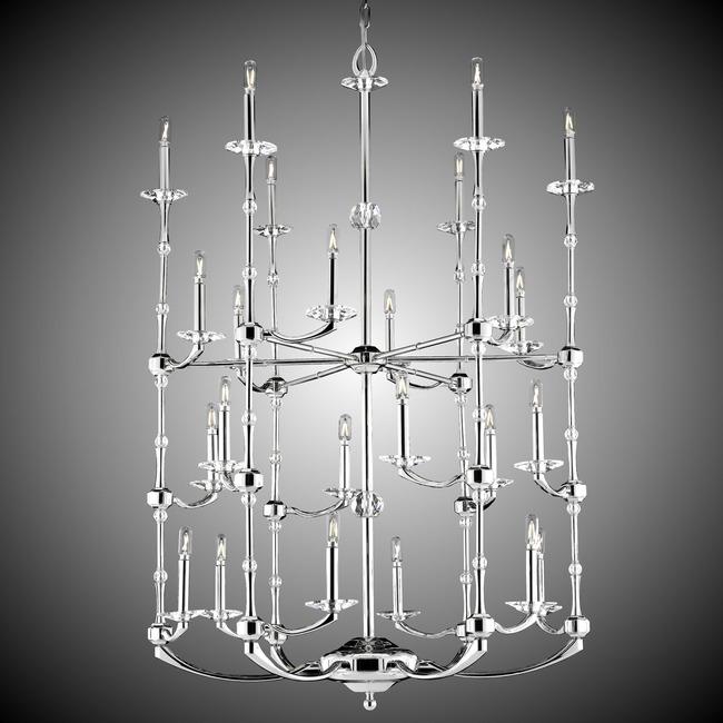 Kensington Three Tier Chandelier  by American Brass & Crystal