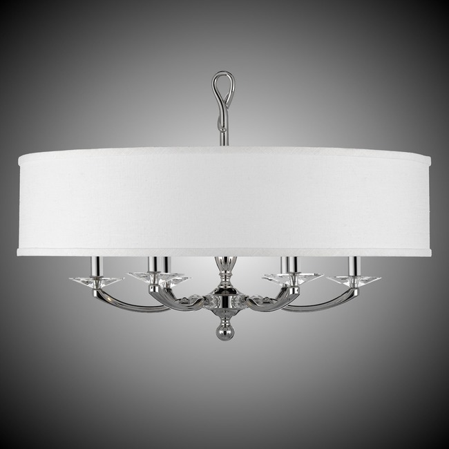 Kensington Shaded Chandelier  by American Brass & Crystal