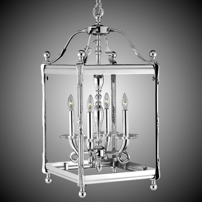 Lantern Square Pendant  by American Brass & Crystal