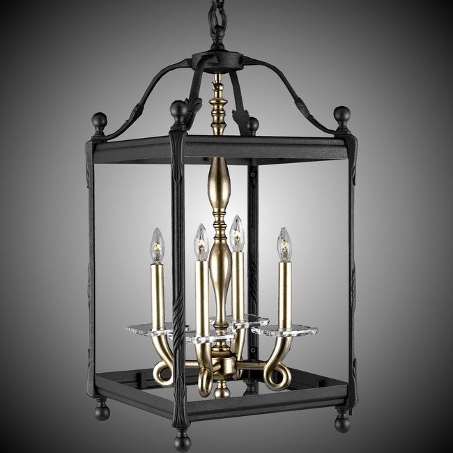 Lantern Tall Square Pendant  by American Brass & Crystal