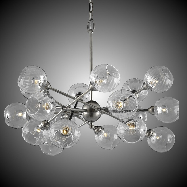 Magro 18 Globe Chandelier  by American Brass & Crystal