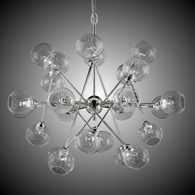 Magro 24 Globe Chandelier  by American Brass & Crystal