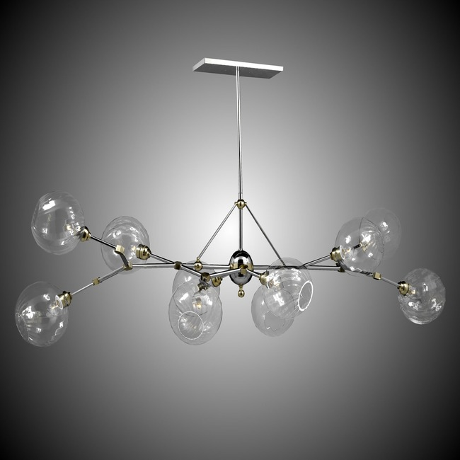 Magro Globe Linear Chandelier  by American Brass & Crystal