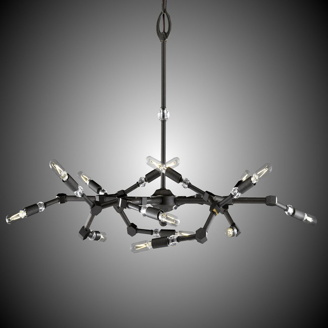 Magro 14 Light Chandelier  by American Brass & Crystal