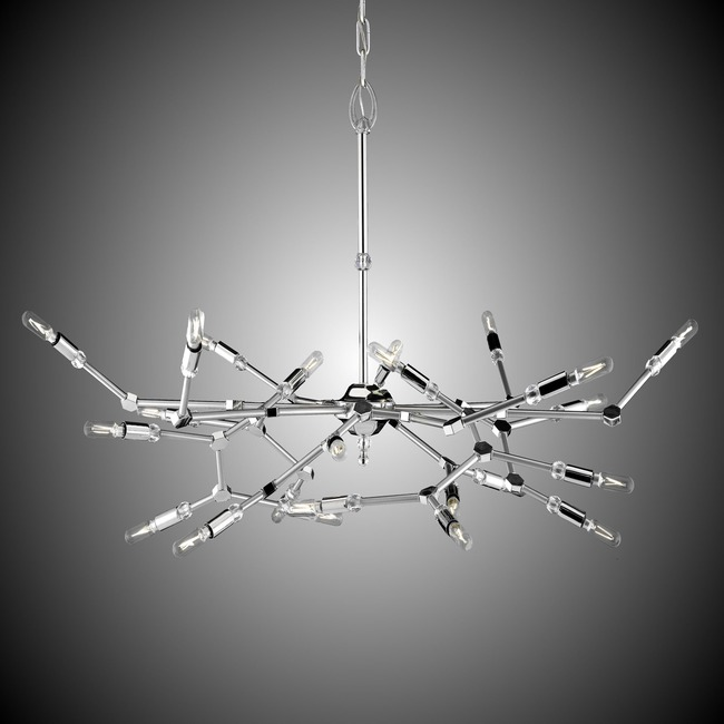 Magro 24 Light Chandelier  by American Brass & Crystal