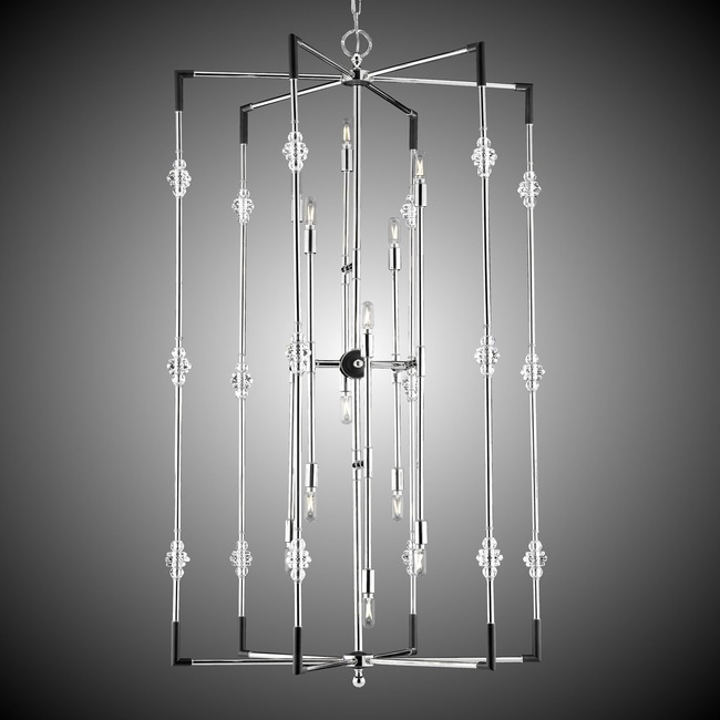 Magro Foyer Chandelier  by American Brass & Crystal