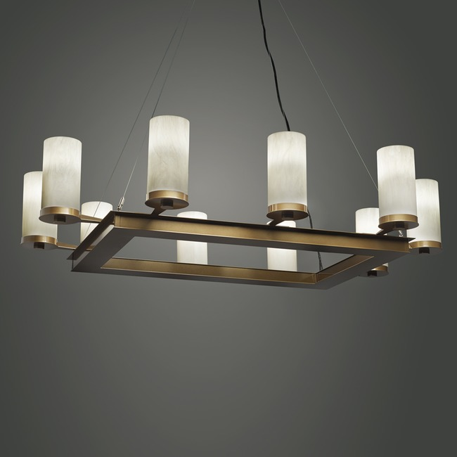 Radius Rectangle Chandelier  by Ultralights