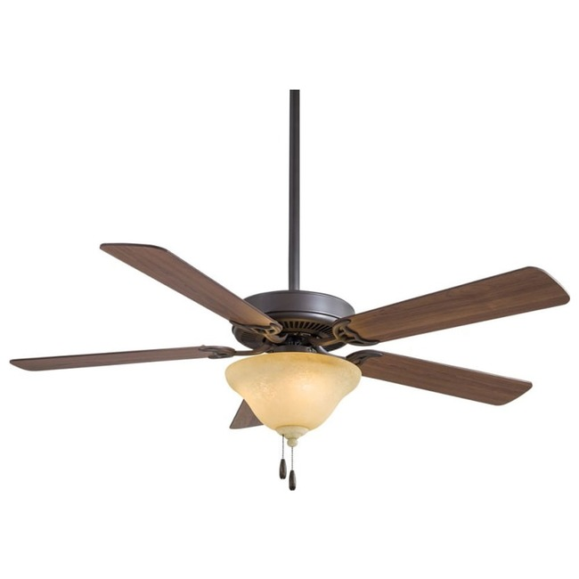 Contractor F548L Ceiling Fan with Light / Excavation Glass  by Minka Aire