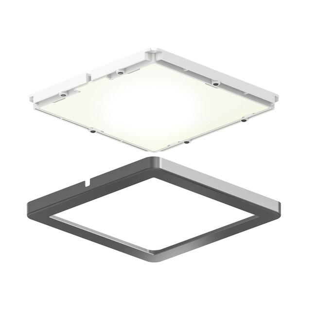 Ultra Slim Square Puck Light Kit/3  by DALS Lighting