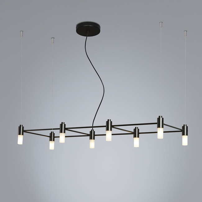 Quadrante Linear Chandelier  by Tooy