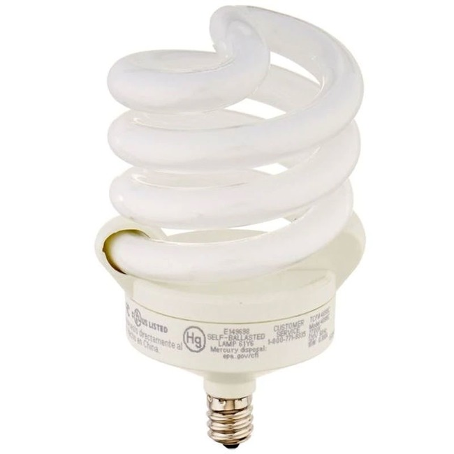 Spring Lamp CFL Candelabra Base 18W 120V 2700K 82CRI 1-PACK  by TCP