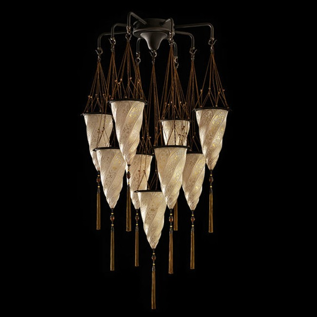 Cesendello Glass Multi Light Pendant  by Venetia Studium