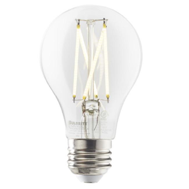A19 Med Base Filament 8.5W 120V 2700K 80CRI 2-PACK  by Bulbrite