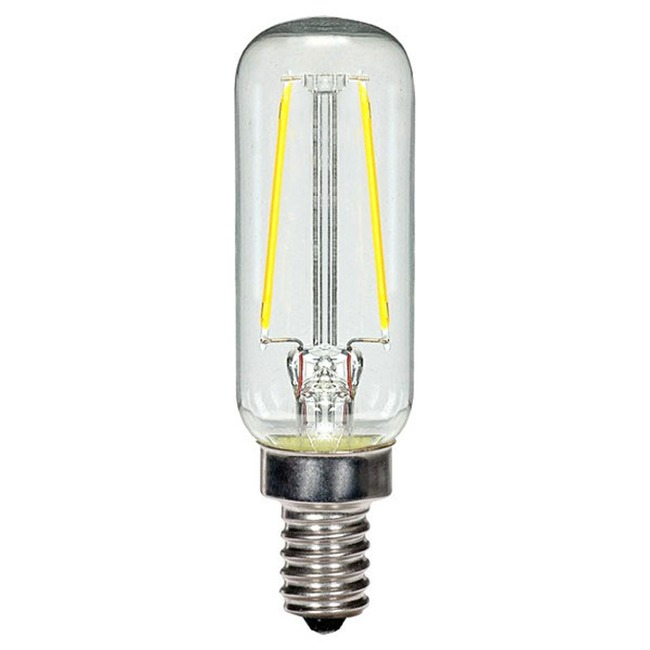 T6 Candelabra Base 2.5W 120V 2700K Clear 2-PACK  by Satco