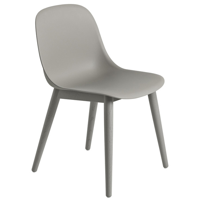 Fiber Side Chair Wood Base  by Muuto