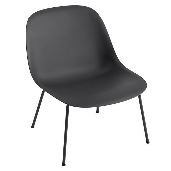 Fiber Lounge Chair Tube Base  by Muuto