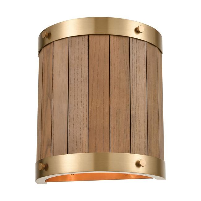 Wooden Barrel Wall Sconce  by Elk Lighting